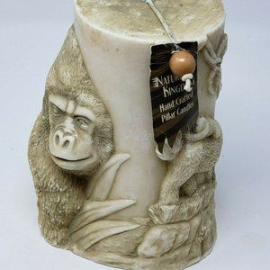Nature's Kingdom Hand Crafted Pillar Candle Jungle